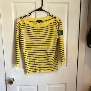 Ralf Lauren size L boat neck sweater